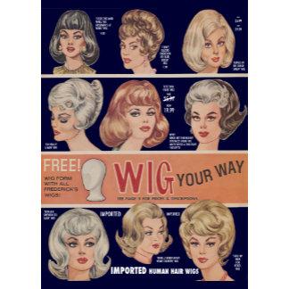 Vintage Wig Ads [3 designs]