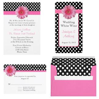 Polka Dots and Gerber Daisy Wedding Set