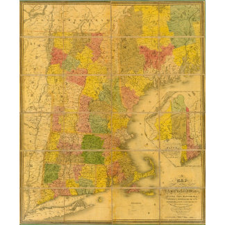 A Map of the New England States