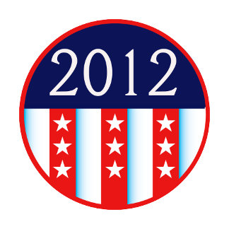 2012 election seal red and blue vote voting