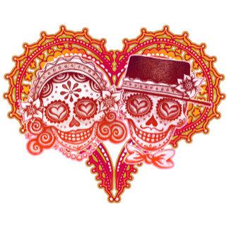 Los Novios with Heart - Red & Pink