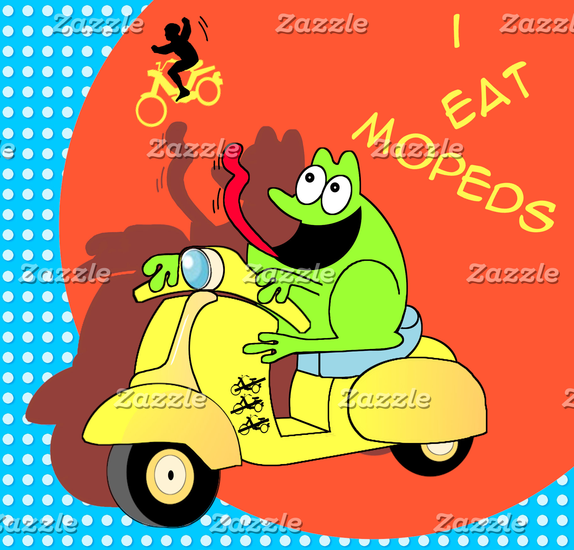 Scooter Frog - I Eat Mopeds
