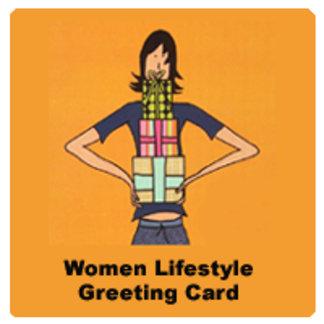 Women Lifestyle Greeting Card
