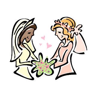 Interracial Lesbian Wedding