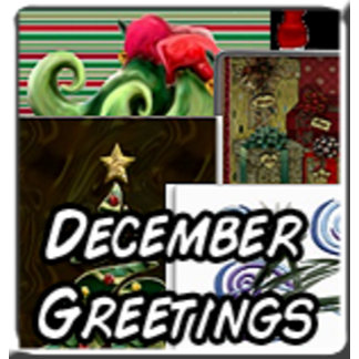 December Holiday Cards, Stickers, Ornaments