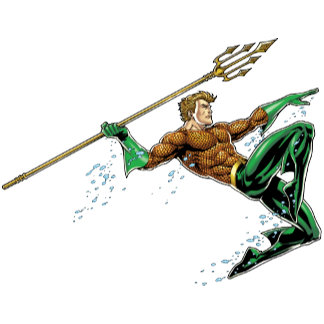 Aquaman Lunging with Spear