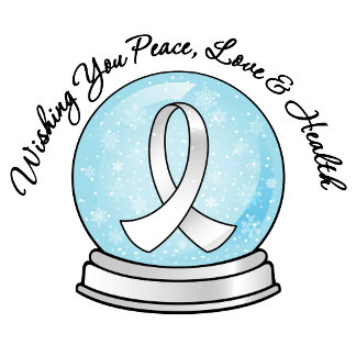 Lung Cancer Ribbon Merry Christmas Snowglobe