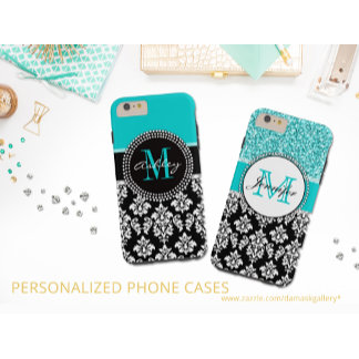 DAMASK COLORS WITH MONOGRAMS