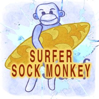 Sock Monkey Surfer