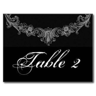 A VARIETY of TABLE NUMBERS