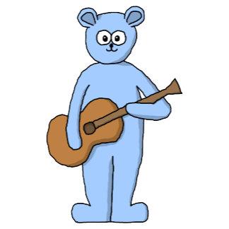 Blue Bear with Guitar