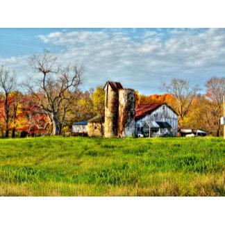 Weathered Barn in Autumn
