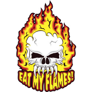 Eat My Flames Skull