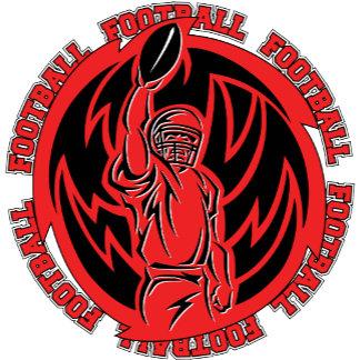 Football Tribal Red Logo