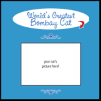 Personalized World's Greatest Bombay Cat