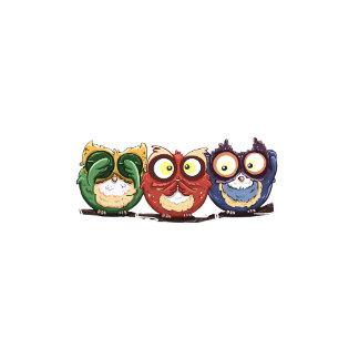 Owls Hoot See Speak Hear No Evil