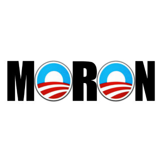 Moron anti Obama stickers for bumpers