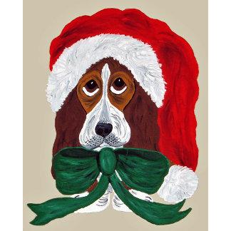 Basset Puppy Santa