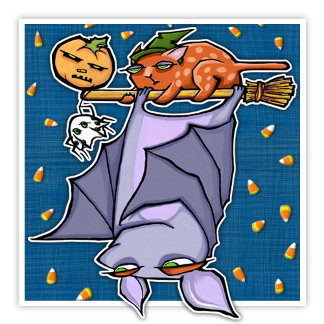 HALLOWEEN GROUCHY BAT