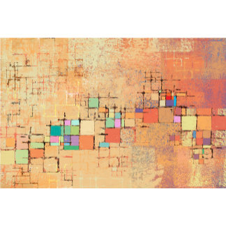 Orange Lattice Harmony Abstract Art Gifts
