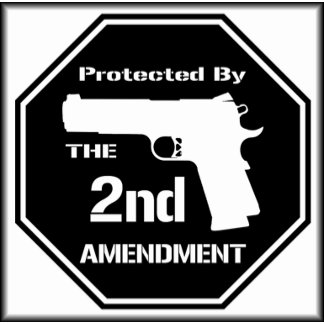 Protected by The Second Amendment ( Black )