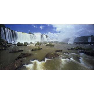 South America, Brazil, Igwacu Falls. Towering