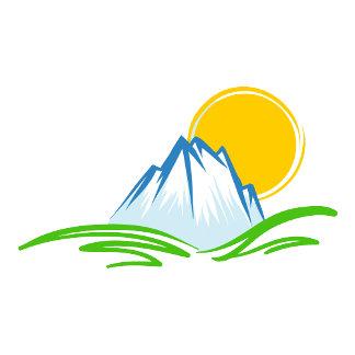 Mountain and Big Sun