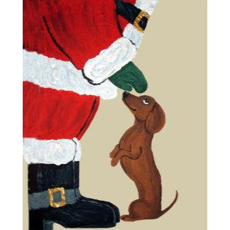 Dachshund And Santa