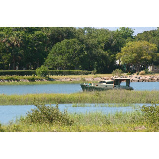 Boat in st augustine inlet in florida