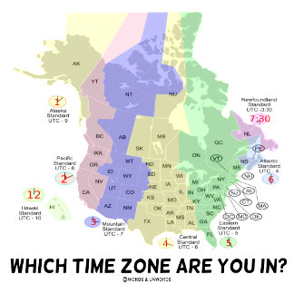 Which Time Zone Are You In? (United States Canada)