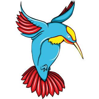 Hummingbird 2 ~ Vintage Forties Tattoo Bird Art