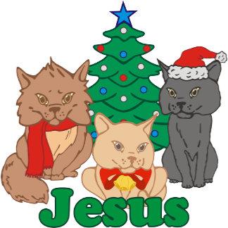 Christmas Cats Jesus