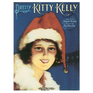 Pretty Kitty Kelly - Vintage Song Sheet Music Art