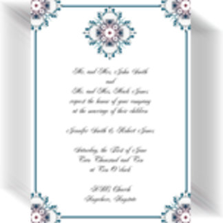 Floral Medallion in Teal and Rose
