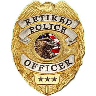 Police Badge Retired