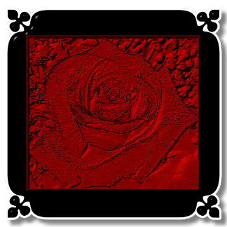 RED ROSE SCULPTURE
