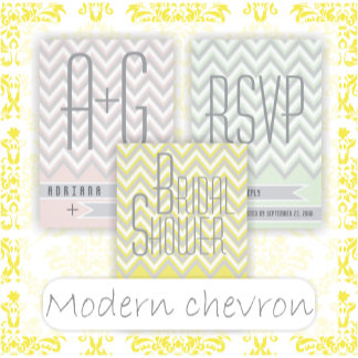 Chevron zigzag modern pattern set