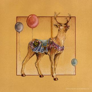 Carousel Reindeer - Elk