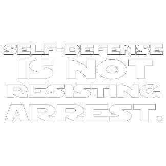 Self-Defense5 - White w/ Black Outline