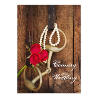 Red Roses and Horse Bit Wedding