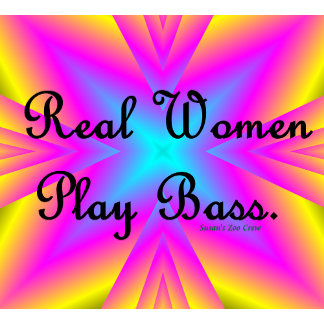Real Women Play Bass Tie Dye Burst 1