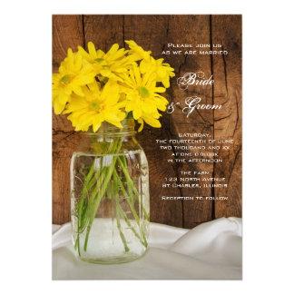 Mason Jar Yellow Daisies Wedding