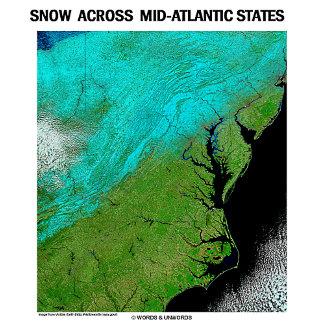 Snow Across Mid-Atlantic States