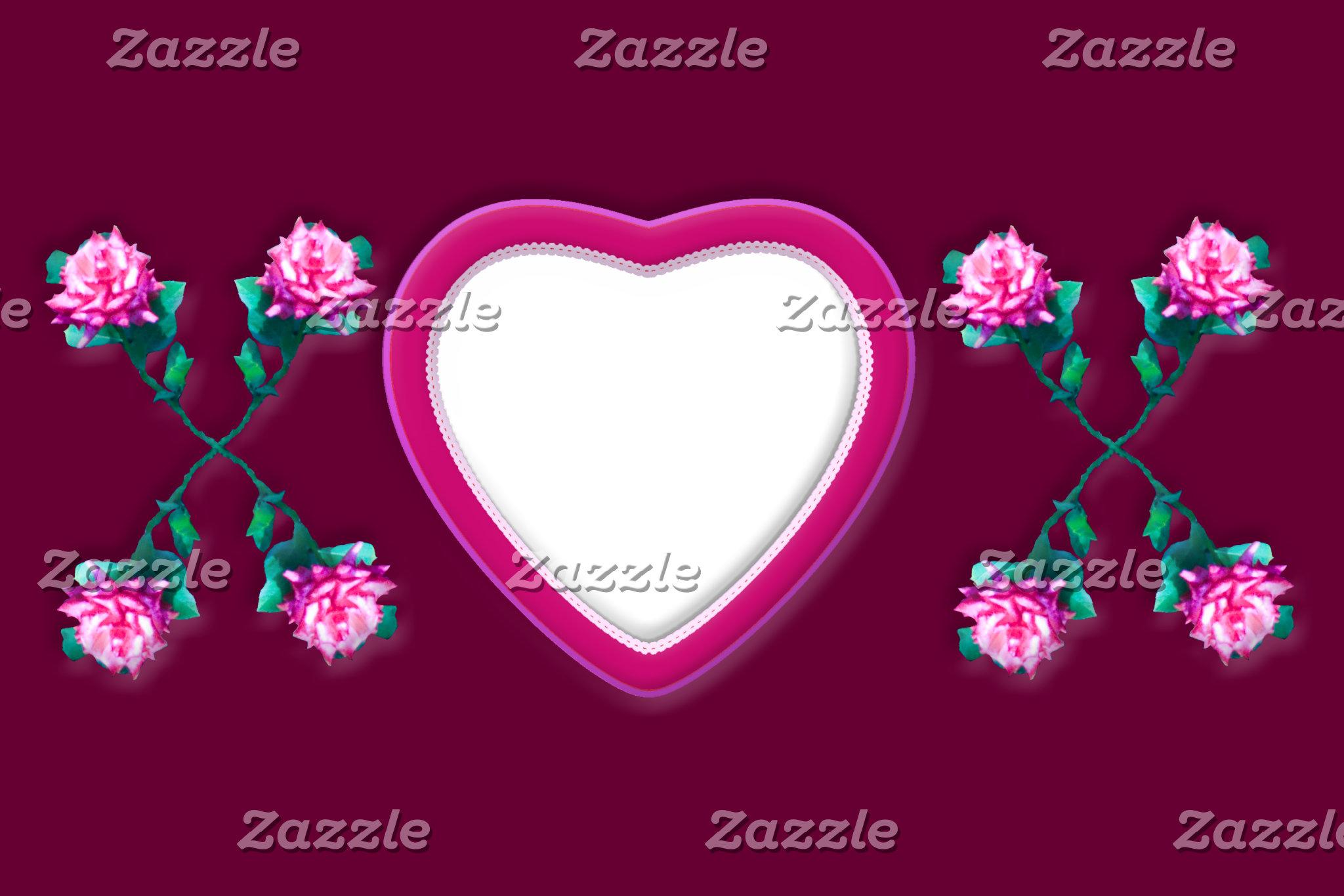 Hearts & Roses X's & O's Photo Frames