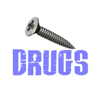 Screw Drugs Light Blue