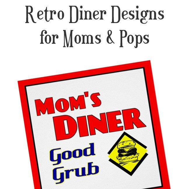 Retro Mom or Pops Diner Kitchen Slogans