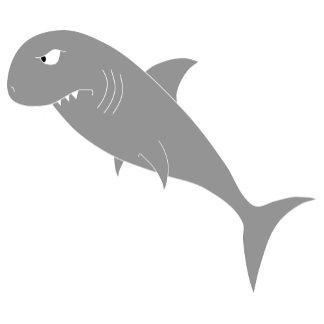 Gray Shark on Blue Zigzags