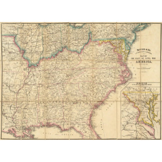 Map of The Seat of Civil War In America