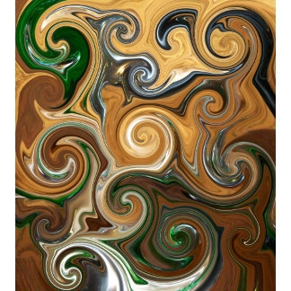 Coffee - Java, Green and White Abstract