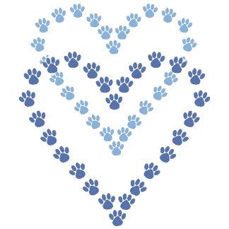 Heart Shaped Paw Prints